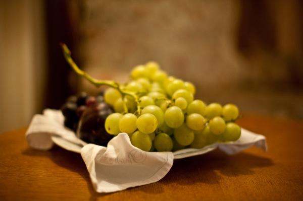 nur aus den besten Trauben wird der Wein gemacht