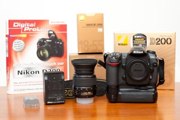 Nikon D200 - Professionelle Digitalkamera als Set zu verkaufen