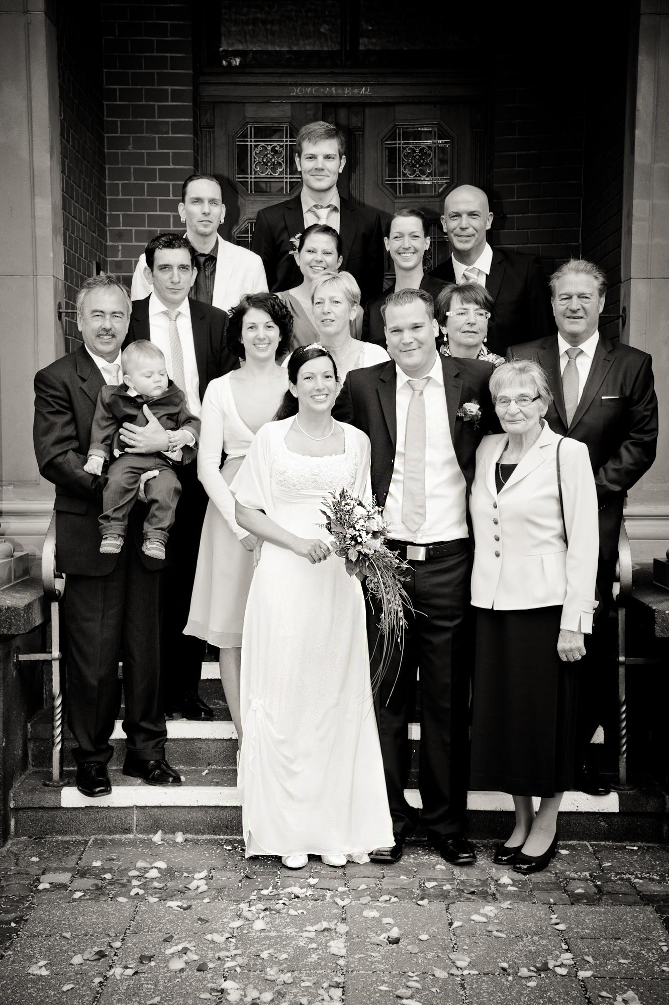 Gruppen- und Familienfotos auf der Hochzeit