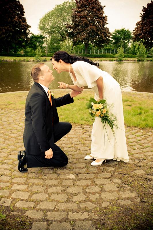 Hochzeitsfotos auf einer Insel
