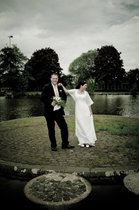 Fotos Brautpaar - Fokus auf der Mitte