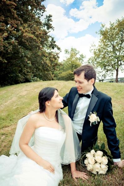 Fotomontage Beispiel eines Hochzeitsfotos