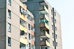 Heruntergekommene Fassaden im Kölner Ghetto