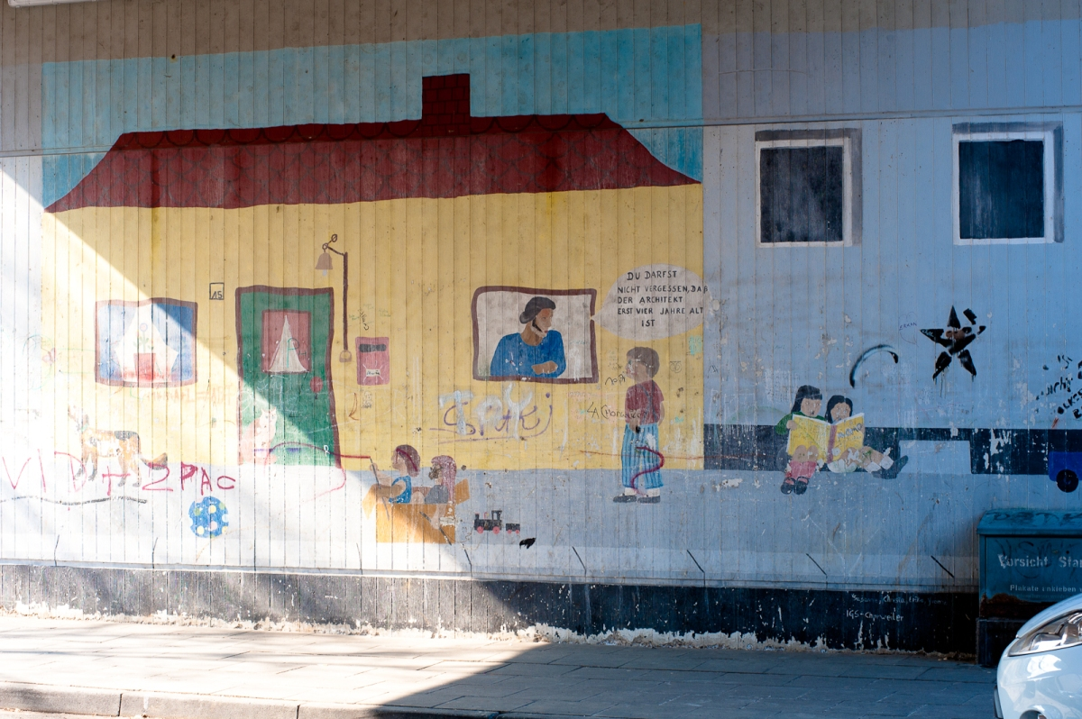 Graffiti an einem Untergang