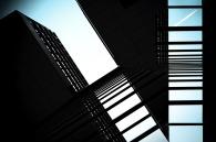 Fotomontage eines Gebäudes