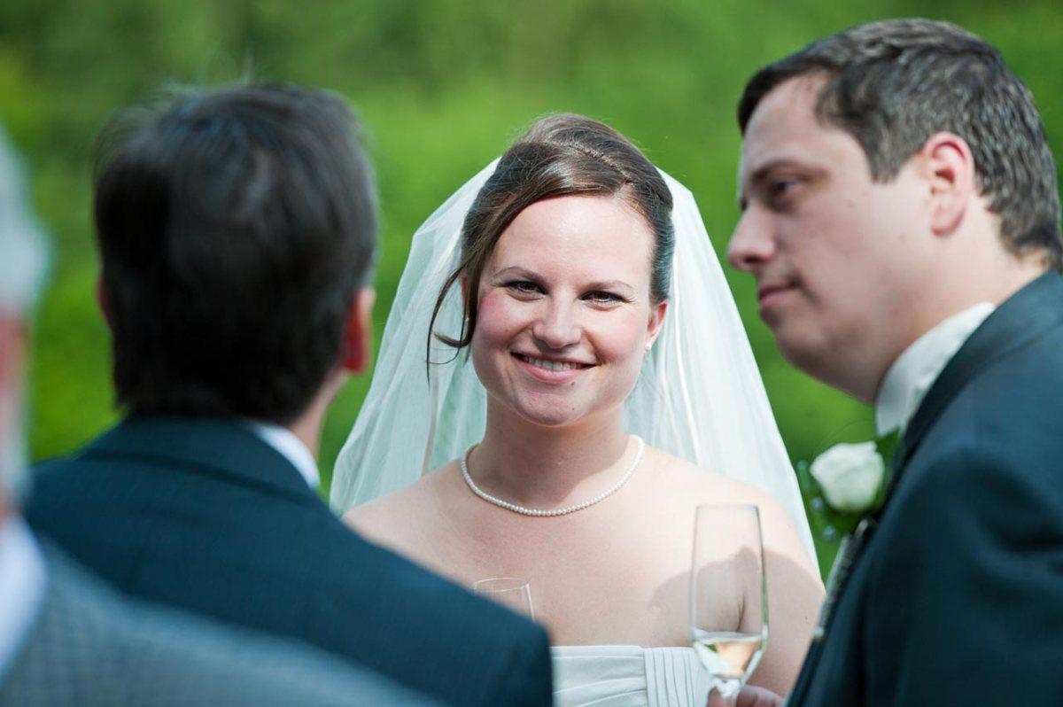 Eine schöne Aufnahme der Braut am Hochzeitstag