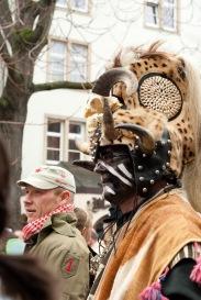 Indianer Häuptling in der Altstadt
