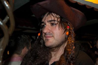 Als Pirat verkleideter Kölner