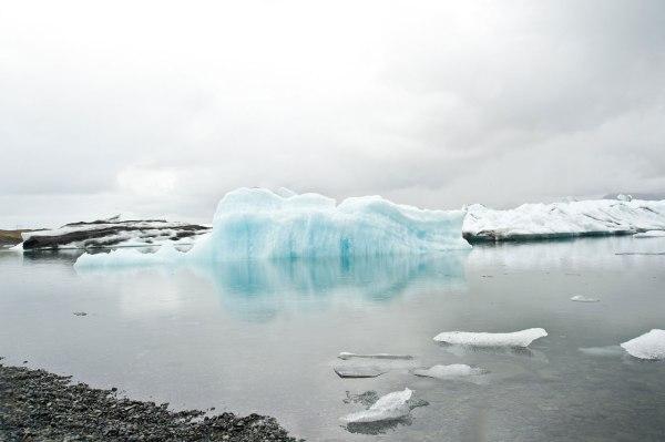 Eislandschaft mitten auf Island