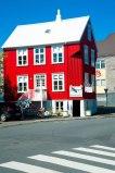 Rotes Haus in der Haupstadt