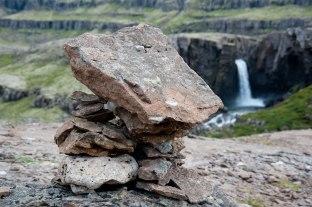 Steinformation auf Island