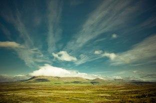 Wolken fotografiert auf Island