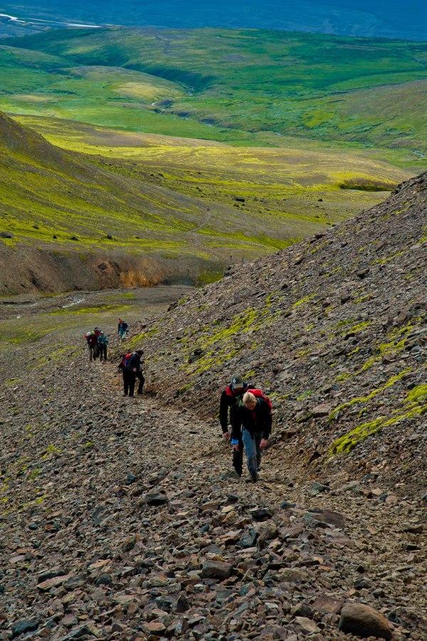 Nur noch wenige Meter trennen uns vom Gipfel