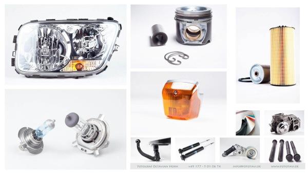Collage aus professionellen Produktfotos vom Profi