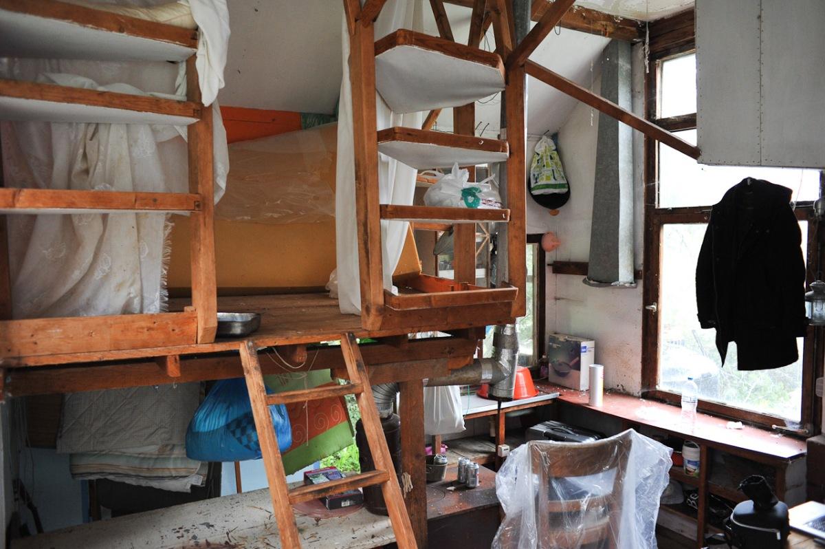 Blick in das Innere der Hütte