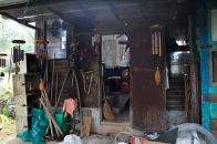 Der Eingang zur Hütte