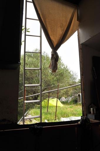 Das alte Fenster wurde ausgebaut
