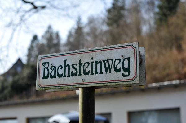 Bachsteinweg an der alten Ölmühle