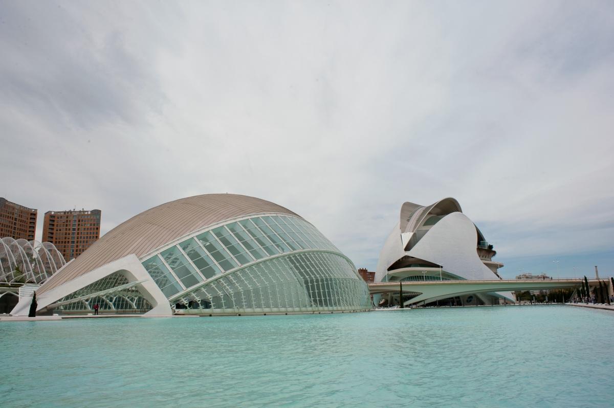 Futuristisches Design in la ciudad de artes y sciencias