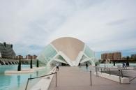 Eingang in die futuristische Stadt in Valencia