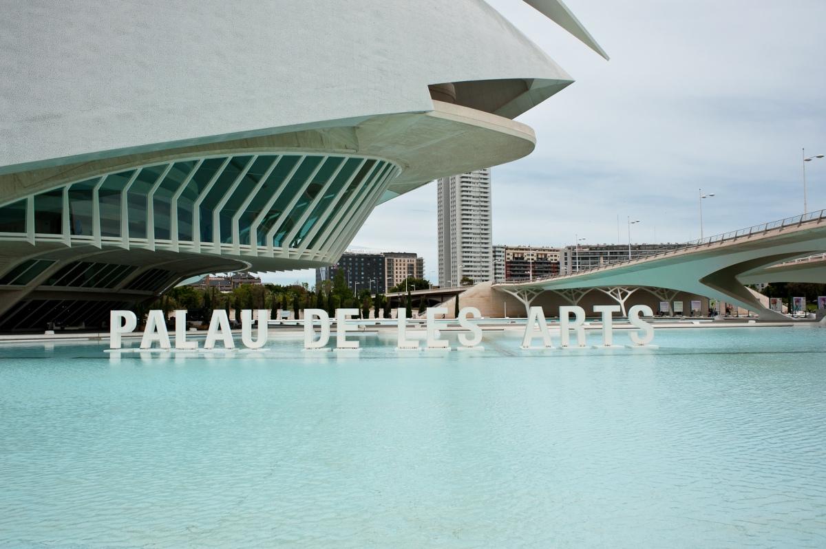 Der Palast der Künste in Valencia