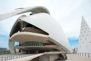 Anblick auf das futuristische Design