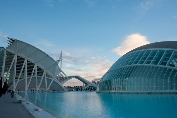 Zukunftsweisende Architektur in Valencia Stadt